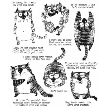 Tim Holtz Cling Stamps set - Snarky Cat - CMS392