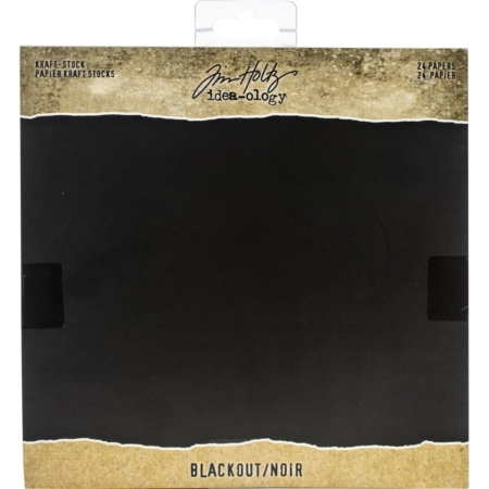 Tim Holtz - Idea-Ology - Kraft Stock Cardstock Pad - Blackout
