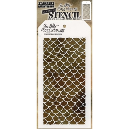 Tim Holtz - Layered Stencil - Scales - Layered - THS140
