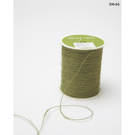 May Arts Burlap String 1 mm X 400 yd - Sage