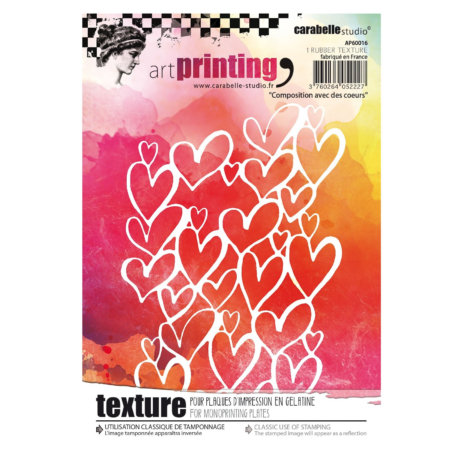 Carabelle Studio art stamp - Hearts - AP60016