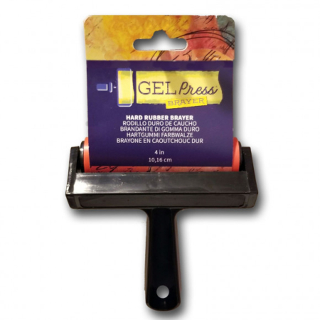 "Gel Press Brayer - Hard Rubber Brayer 4"" - 10820-4"