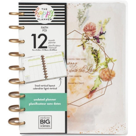 Happy Planner Me & My Big Ideas Classic UNDATED - Faith