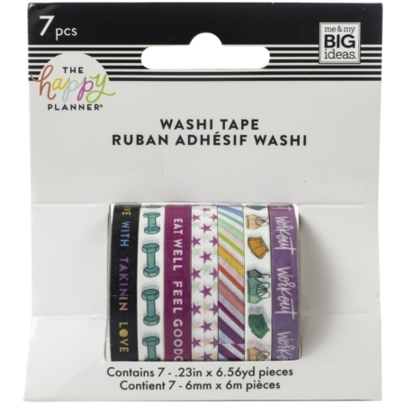 Happy Planner Mini Washi Tapes - Fitness - WTB-49