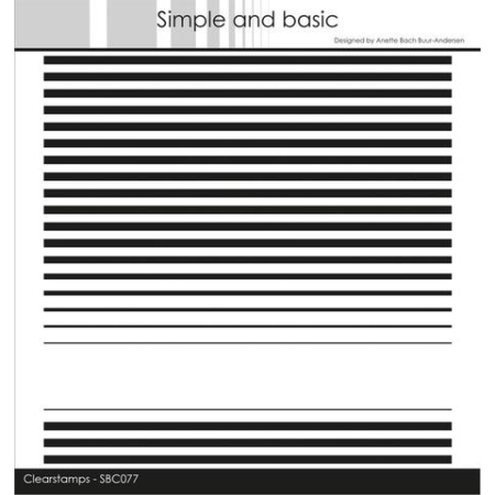 Simple and Basic Stempel - Stripes Background - SBC077