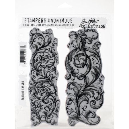 Tim Holtz Cling Stamps set - Baroque - CMS400