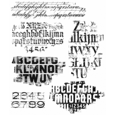 Tim Holtz Cling Stamps set - Faded Type - CMS397