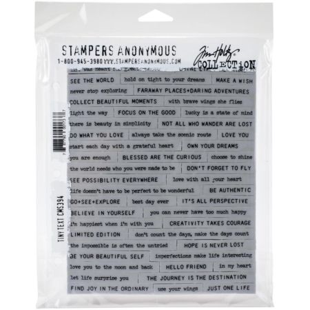 Tim Holtz Cling Stamps set - Tiny Text - CMS394