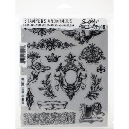 Tim Holtz Cling Stamps set - Urban Elements - CMS398