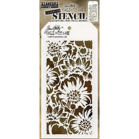 Tim Holtz - Layered Stencil - Bouquet - THS143