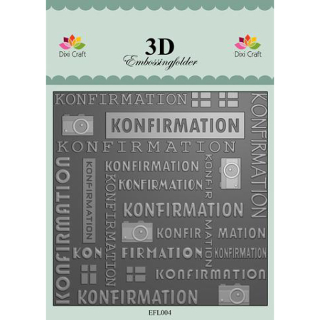 Dixi Craft 3D - Embossingfolder - Konfirmation - EFL004