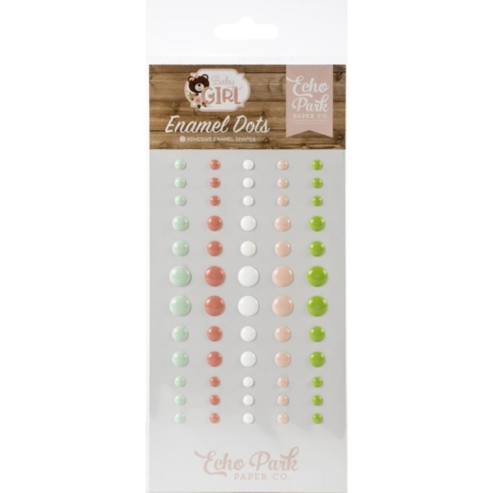 Echo Park Adhesive Enamel Dots - Baby Girl - BAG202028