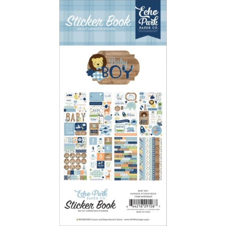 Echo Park Sticker Book - Baby Boy - BAB206029