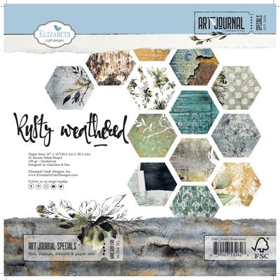 Elizabeth Craft Designs Paper - Art journal - Rusty Weathered - C001