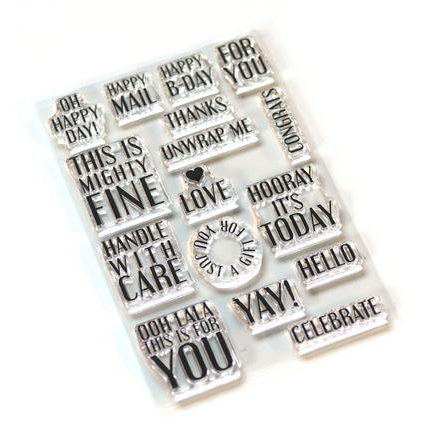 Elizabeth Craft Designs Stamp Pieces of Life 4 Retro - CS163