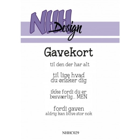NHH Design Clearstamp - Gavekort - NHHC029