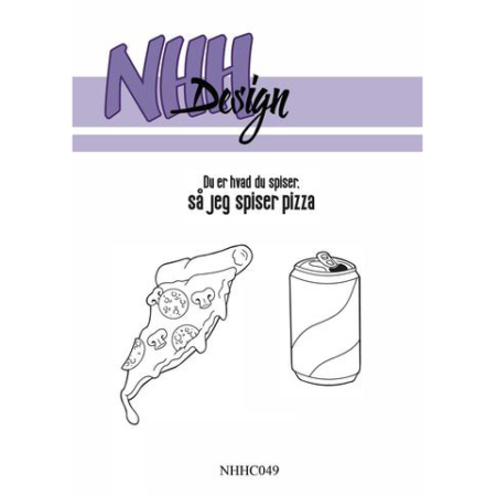 NHH Design Clearstamp - Pizza - NHHC049