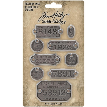 Tim Holtz Idea Ology - Metal Factory Tags - TH94039