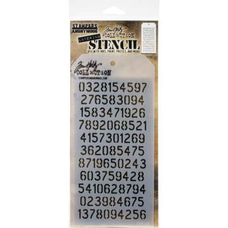 Tim Holtz - Layered Stencil - Digits - Layered - THS145