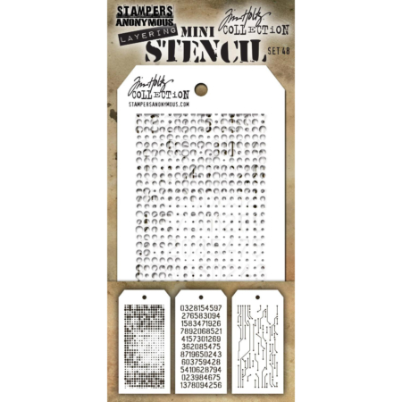 Tim Holtz - Layering stencil - Mini Set 48 - MST048