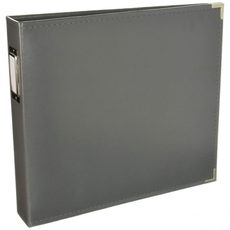 We R Memory Keepers - Faux leather album - Charcoal