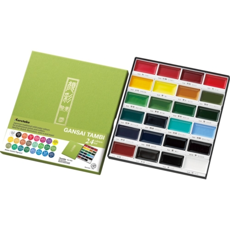 Kuretake - Gansai Tambi 24 Color Set - MC2024V