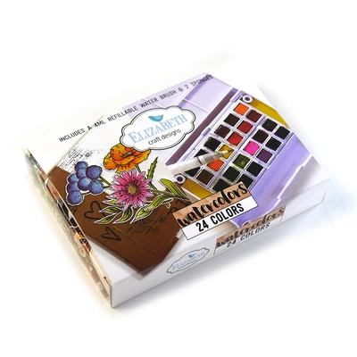 Elizabeth Craft Design - Watercolor Palette - 24 colors