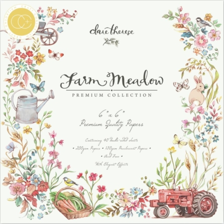 "Craft Consortium Paper Pad 6x6"" Farm Meadow CCPPAD015B"
