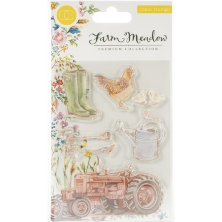 Craft Consortium A5 Clear Stamps - Farm Meadow