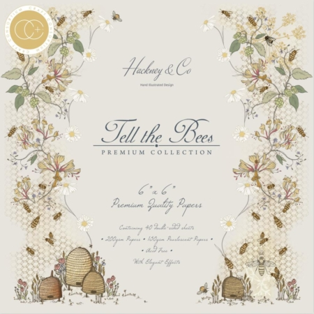 "Craft Consortium Paper Pad 6x6"" - Tell The Bees - CCPPAD005B"