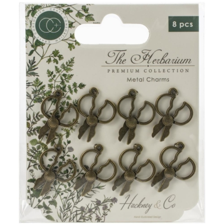 Craft Consortium The Riverbank Metal Charms Brass Herb Scissors