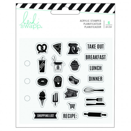 Heidi Swapp - Memory planner clear stamps food - 313895