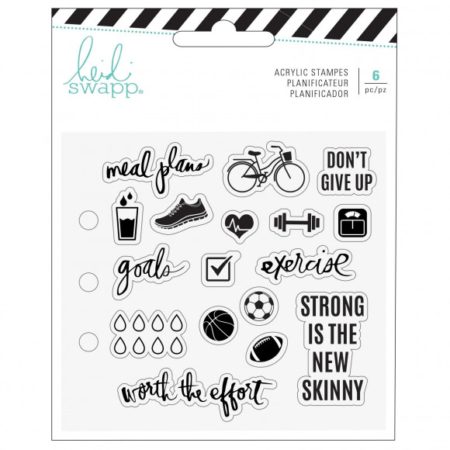 Heidi Swapp - Memory planner clear stamps sport - 313898