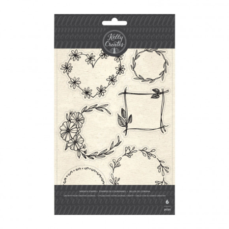 Kelly Creates - stamp floral wreaths - 351372