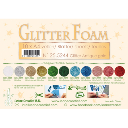 LEANE GLITTER FOAM A4 - Glitter Antique Gold - 25.5244
