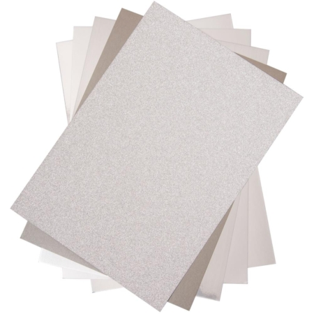 Sizzix - Opulent Cardstock Pack - Silver - 664533