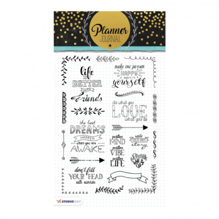 Studio Light clear stamp A5 Planner journal nr.03
