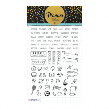 Studio Light clear stamp A5 Planner journal nr.04