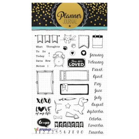 Studio Light clear stamp A5 Planner journal nr.06