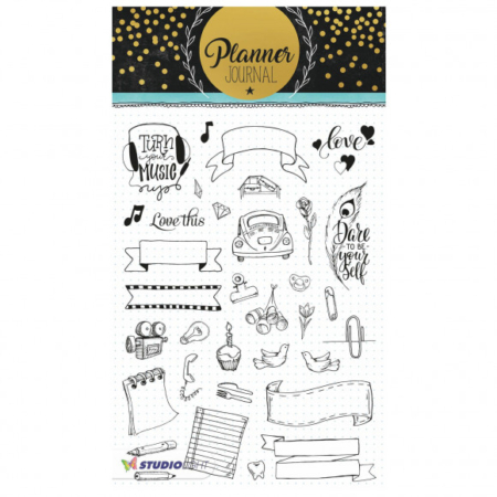 Studio Light clear stamp A5 Planner journal nr.08