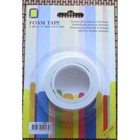 3D Foam tape - Doubleside Adhesive Foam - 12 mm x 0.5 mm