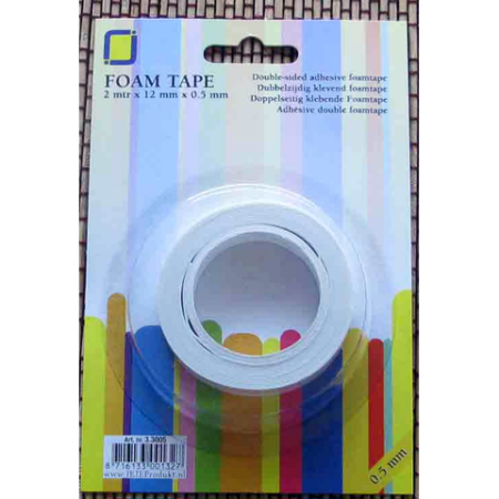 3D Foam tape - Doubleside Adhesive Foam - 12 mm x 1 mm
