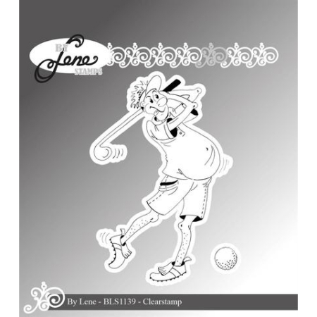 By Lene Stamps - Funny Golf Player Golfspiller - BLS1139