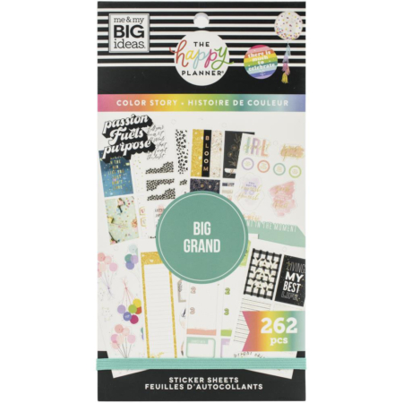 Happy Planner Sticker - Big Boxes Color Story - PPSV-192