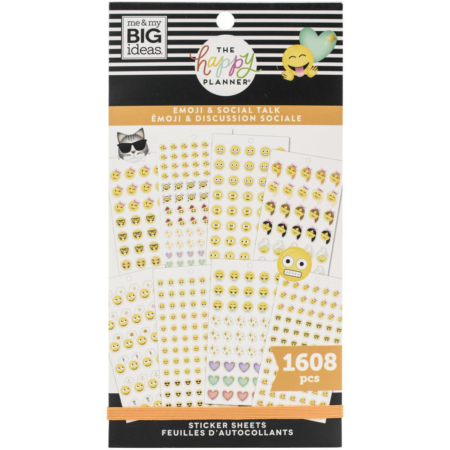 Happy Planner Sticker - Emoji & Social Talk - PPSV-189