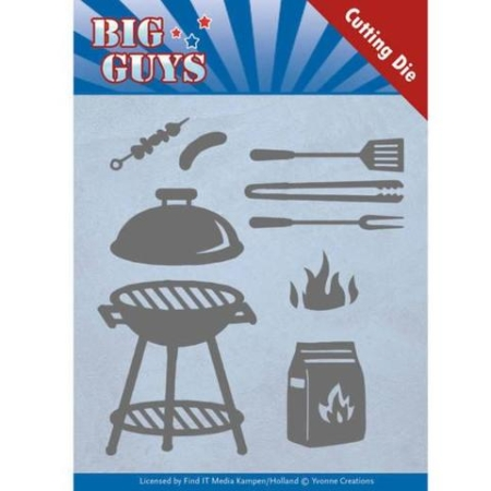 Yvonne Design Dies - Big Guys - BBQ Time - YCD10171