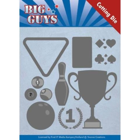 Yvonne Design Dies - Big Guys - Play To Win - YCD10170