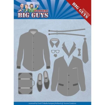 Yvonne Design Dies - Big Guys Workers - Dressed - YCD10204