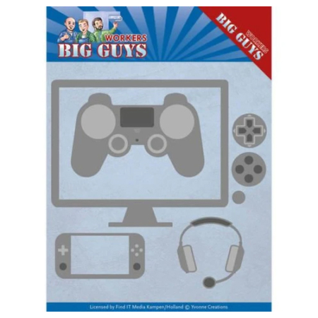 Yvonne Design Dies - Big Guys Workers - Game Time - YCD10205