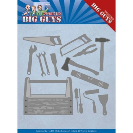 Yvonne Design Dies Big Guys Workers Handyman Tools YCD10203